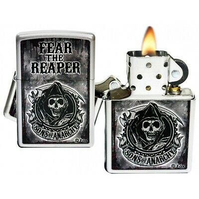 Zippo 28502 Sons Of Anarchy / Silver lighter - Petrol Windproof - Gift Box