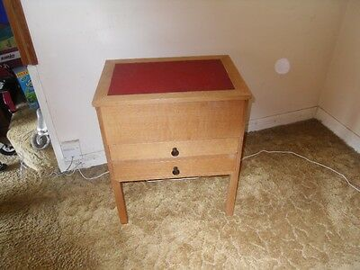lovely sewing work table/box with lifting lid and two drawers