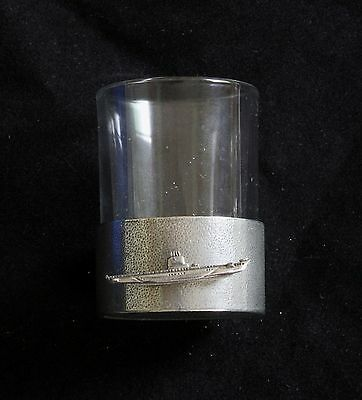 Submarine Shot Glasses Pewter Based Round 50ml Submariners Gift