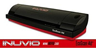 INUVIO EcoScan i4d Duplex ID Card and Document Scanner - Scans in full-color