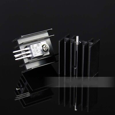 5pc 25x24x16mm TO-220 Triode Audion Heat Sink Cooling IC Chip Aluminium Radiator