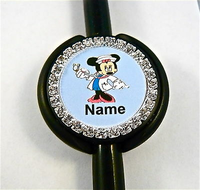 Id Stethoscope Name Tag Bling Sweet Minnie, Nurse,rn,medical,er,ma,vet Tech,vet