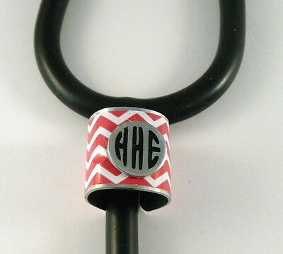 Stethoscope Id Tag  Ring Cuff Charm,hot Pink,vet,ems,emt, Rn,nurse,tech,dr.