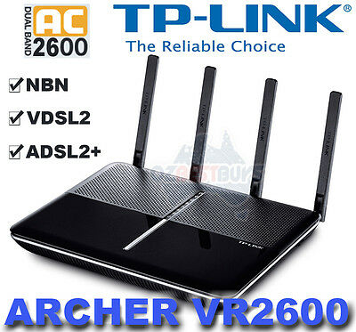 TP-LINK Archer VR2600 Dual Band Wireless Wi-Fi AC2600 ADSL2+ VDSL2 Modem Router