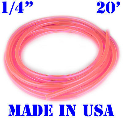 "20 Feet of Pink 1/4"" Fast Flow Fuel Line Snowmobile ATV Jetski Go Kart Cycle"