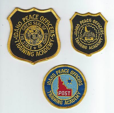 THREE VINTAGE IDAHO PEACE OFFICERS TRAINING ACADEMY patches