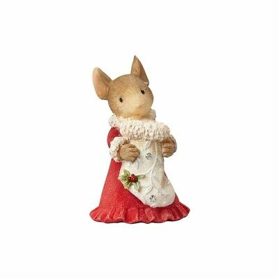 Enesco Heart of Christmas Mouse With Stocking Figurine $50=FreeShipUS