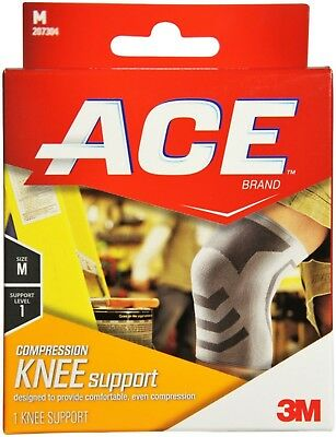 ACE Compression Knee Support Medium 1 ea (Pack of 9)