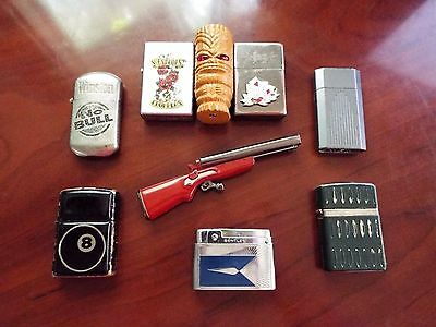 Vintage Collection of 9  Lighters Bentley Champ Ronson + Repairs? Free Shipping