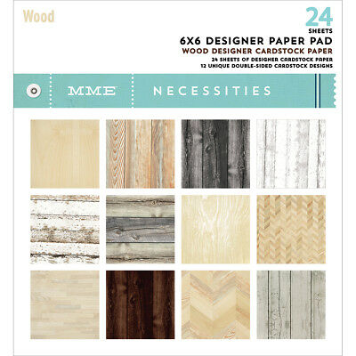 """My Mind's Eye Double-Sided Paper Pad 6""""X6"""" 24/Pkg-Necessities, 12 Designs/2 Each"""