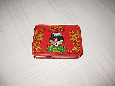 Vintage Coca Cola Metal Tin with Deck of Playing Cards (54 cards - 52+2 Jokers)