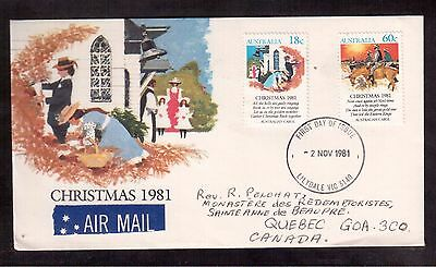 Australia 1981 First Day Cover, # 811 & 813 Christmas !!