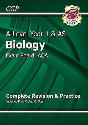 New A-Level Biology: AQA Year 1 & AS Complete Revision & Practice |Free Delivery