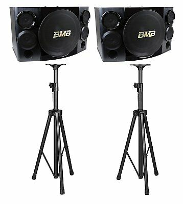 "BMB CSE-310II 500W 10"" 3-Way Speakers  with Speaker Stands Combo"