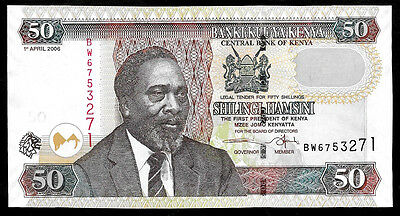 World Paper Money - Kenya 50 Shillings 2006 P41 @ Crisp UNC