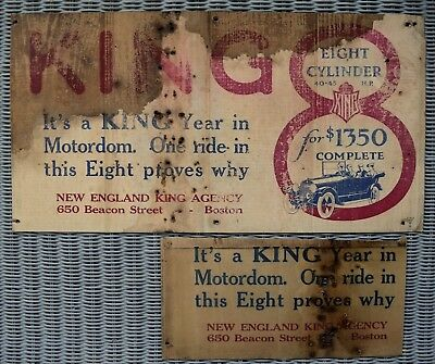 Vintage King 8 Cylinder Automobile Advertising Trolley Posters 7390