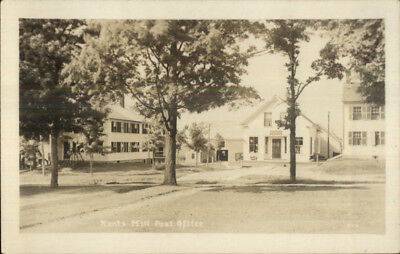 Kents Hill ME Post Office c1915 Real Photo Postcard