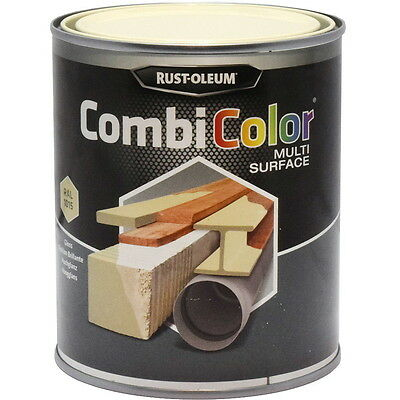 Rust-Oleum CombiColor Multi-Surface Paint Clear Ivory Gloss 750ml RAL 1015