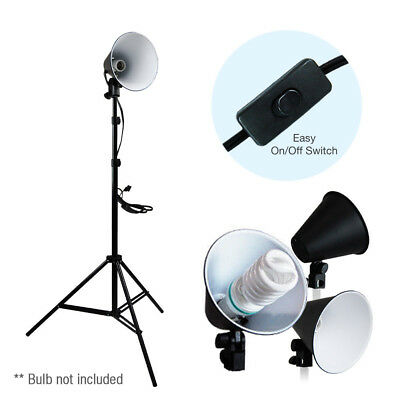 "6.5"" Light Photo Studio Reflector Stand Photography Lighting Head w/ Reflector"