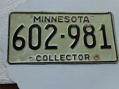 MINNESOTA license plate  (OVER THREE YEARS OLD)