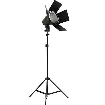 150W Dimmable Barndoor Professional Studio Light Stand Continuous Lighting