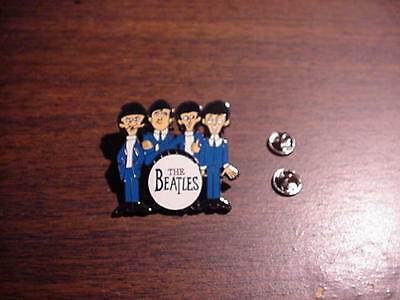 Beatles GROUP Cartoon WITH DRUM  Hat  Pin  MINT