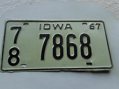 IOWA license plate  (OVER THREE YEARS OLD)