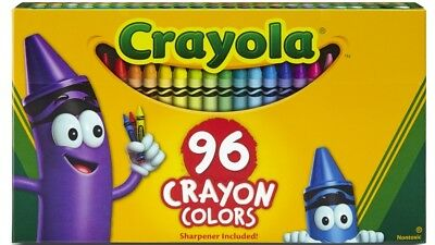 Crayola Regular Crayons For Children and Toddlers - Pack of 96 - Various Colours