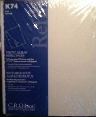 """C R Gibson Photo Album Refill Pages 9"""" X 11"""" K74"""
