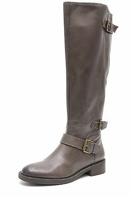 770fedd7c85 WOMENS ENZO ANGIOLINI taupe leather wide calf knee high boots sz. 6 ...
