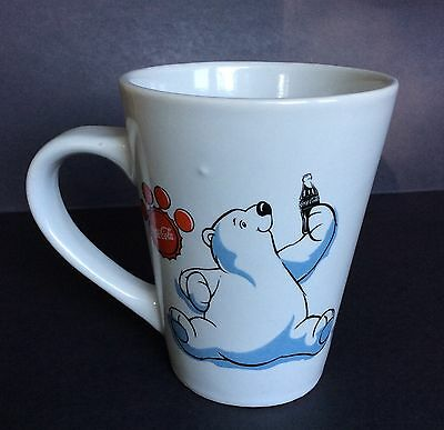 Coca Cola Coffee Cup Mug White Large 16 oz Polar Bears Different images.