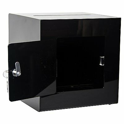 Clear-Ad - SBA-888 - Acrylic Ballot Box with Lock Plastic Container for Donation