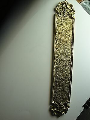 Solid Cast Brass Architectural Door Hardware -Push  Plate - Vintage Designed