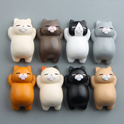 Creative Gift Kawaii Cartoon Animal Cat Fridge Magnet Sticker Refrigerator Decor