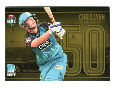 2016-2017 Tap N Play Cricket Jersey Numbers Gold JNG-14 Chris Lynn 50 23/50