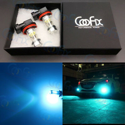 NEW 2x H11 H8 H16 8000K Ice Blue CREE 100W LED High Power Fog Light Driving Bulb