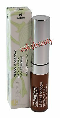 Clinique All About Shadow (03 Medium) Primer For Eyes 0.15oz New In Box