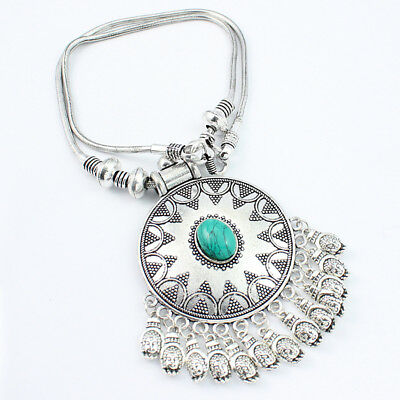 Turquoise fashion jewelry silver plated necklace s14911 for Turquoise colored fashion jewelry