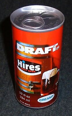 Rare 1960's Hires Draft Root Beer 10 Ounce Vintage Soda Can