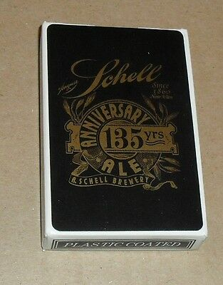 Deck of Schell's Beer Playing Cards, New Ulm Minnesota - Black Deck