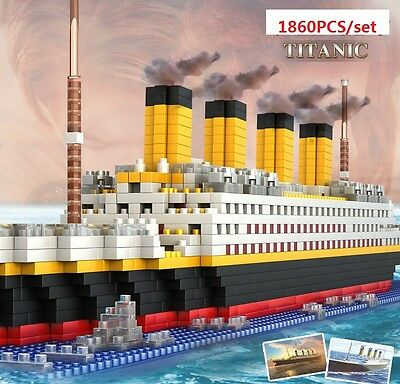 New 1860Pcs Movie TITANIC Ship/Nano Nano Block Diamond Building EDC Toys Gifts