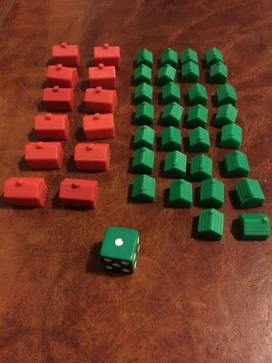 Monopoly Traditional Replacement 30 House 12 Hotels Other Game Parts Listed Melb