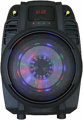 Jetrad Portable PA Active Speaker Sound System, Rechargeable 12V Battery