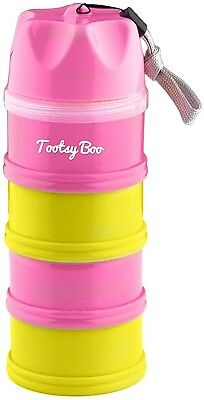 Tootsy Boo 4 Compartment Formula Milk Powder Dispenser And Food/Snack Container