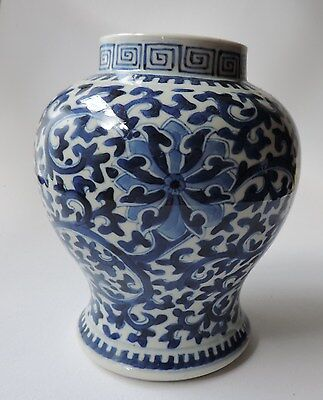 Chinese porcelain blue & white vase, 19thC
