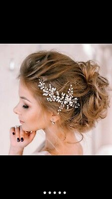 Girls Crystal and Pearls Vine Hair Piece
