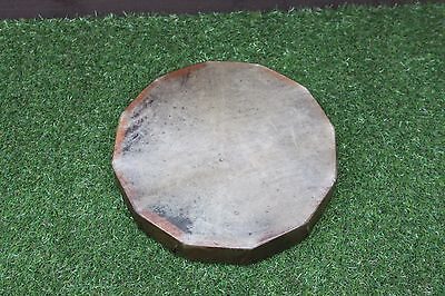"""12""""  Red Stag Rawhide Drum, Shaman, Pagan, Native American Style Hand Drum"""