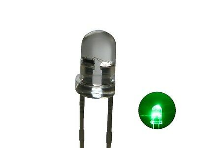 S126 - 20 Piece Flickering LEDs 3mm Green Clear Flickering with Control