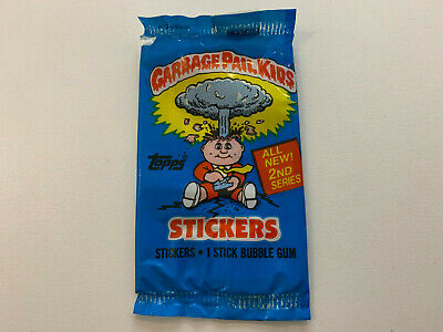 1986 UK Garbage Pail Kids 2nd Series WRAPPER : All Blue (0-495-0-6)