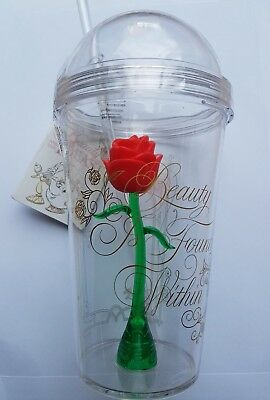Disney Beauty And The Beast Enchanted Rose Tumbler Cup W